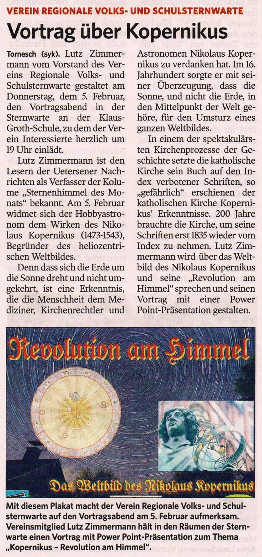 Ankündigumg on der UENA am 28.01.2015