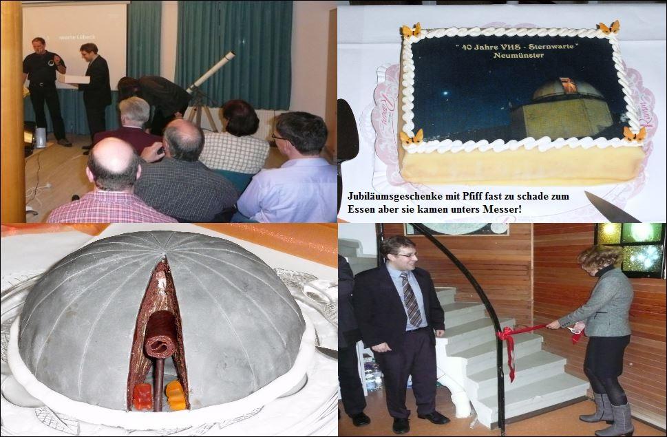 40 Jahre Sternwarte Neumünster und First Light 19 Zoll Teleskop Kollage 2