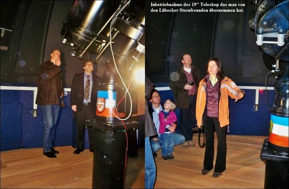 40 Jahre Sternwarte Neumünster und First Light 19 Zoll Teleskop Kollage 3 JPG