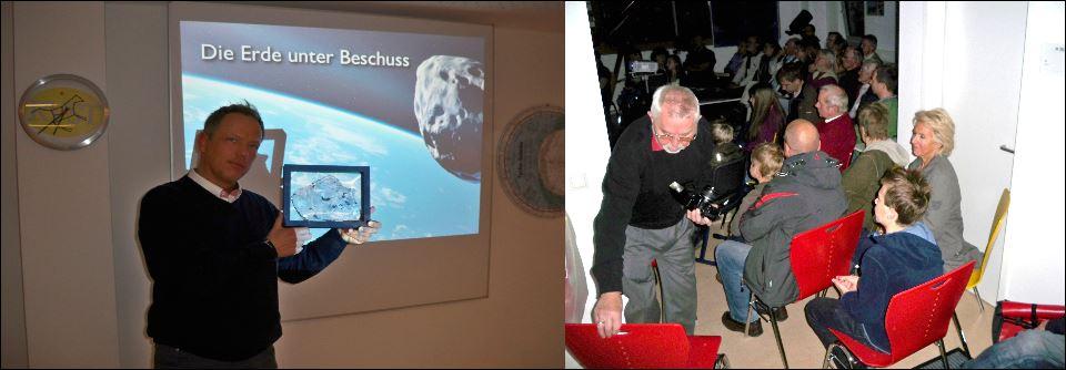 Bilder vom Meteoriten Vortrag