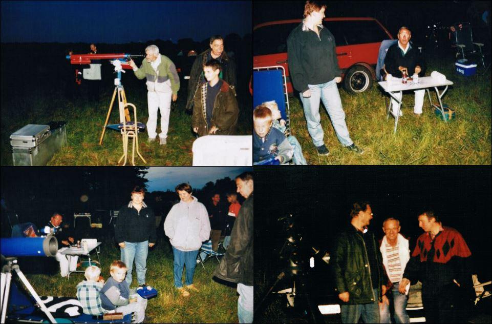 Perseiden Beobachtung 10.08.2001 neben dem Flugplatz 1