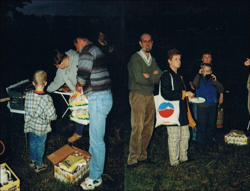 Perseiden Beobachtung 13.08.2001 neben dem Fluoplatz 2