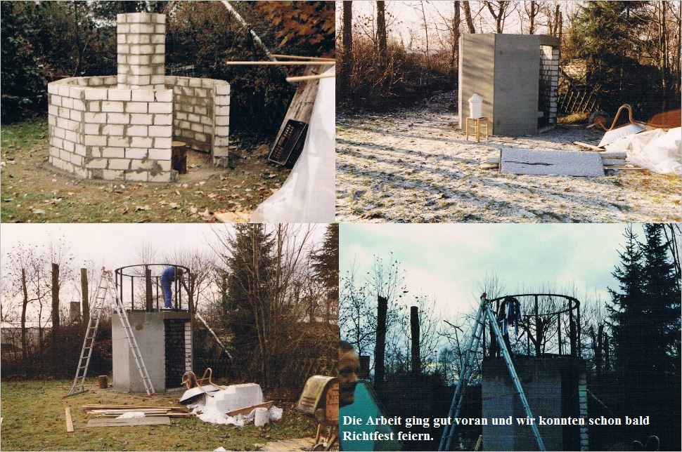 Bau der Sternwarte B. Hübner 2