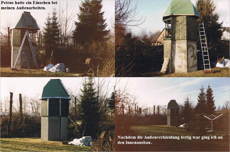 Bau der Sternwarte B. Hübner 7