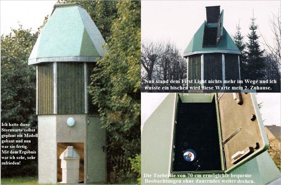 Bau der Sternwarte B. Hübner 8 -