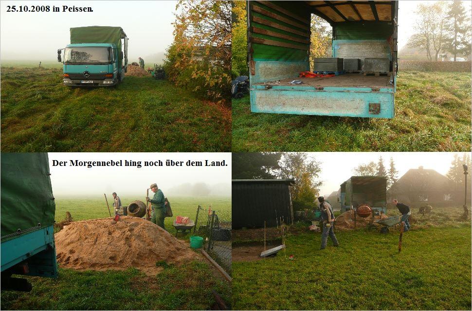 Bau der Sternwarte J. Sander in Peissen 1