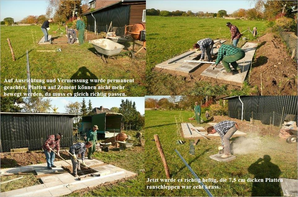 Bau der Sternwarte J. Sander in Peissen 3