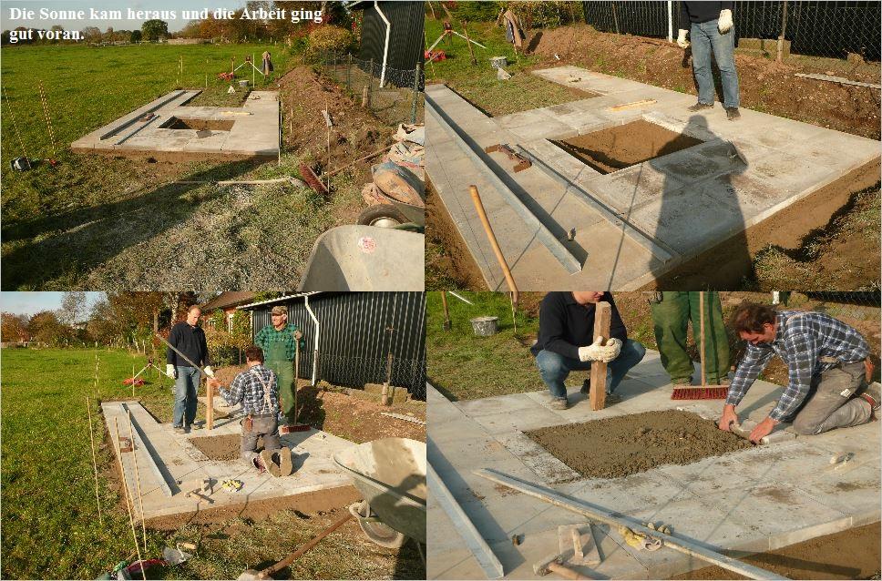 Bau der Sternwarte J. Sander in Peissen 4