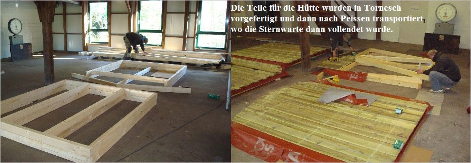 Bau der Sternwarte J. Sander in Peissen 6