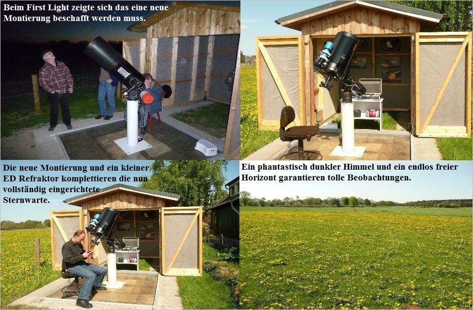 Bau der Sternwarte J. Sander in Peissen 7