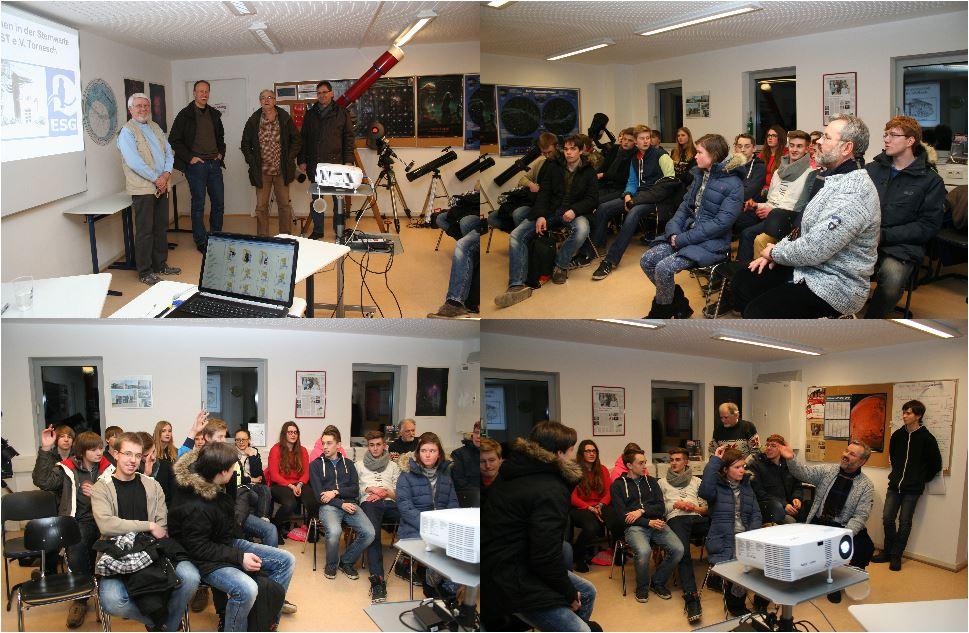 Besuch der Physikklasse vom Elsensee Gymnasium am 30.01.2014 I