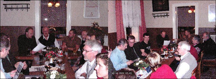 Stamtisch Weihnachtsfeier 14.12.2006