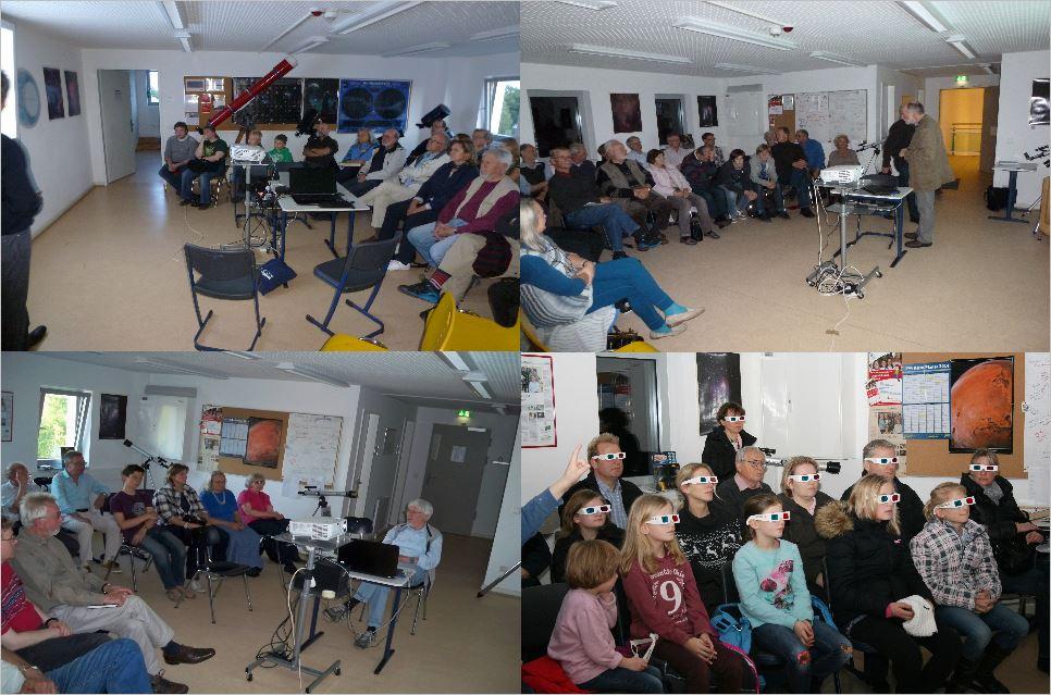 Bilder vom Vortragsraum während Veranstaltungen