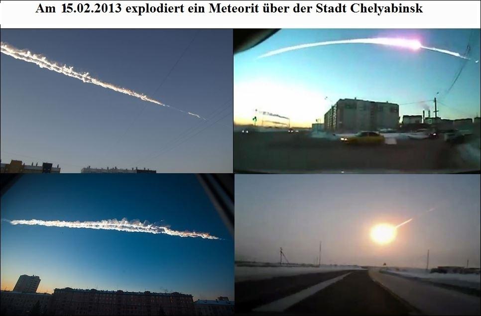 Meteoriten Explosion über Chelyabinsk am 05.02.2013