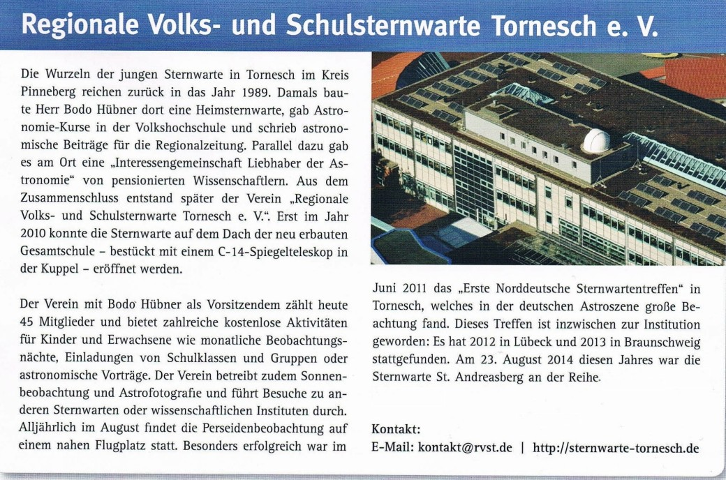 Bericht im VDS Journal Nr. 52 1.Quartal 2015-2