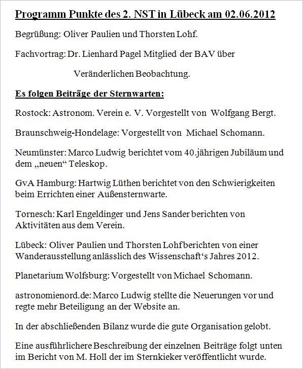 Sternwarten Treffen in Lübeck