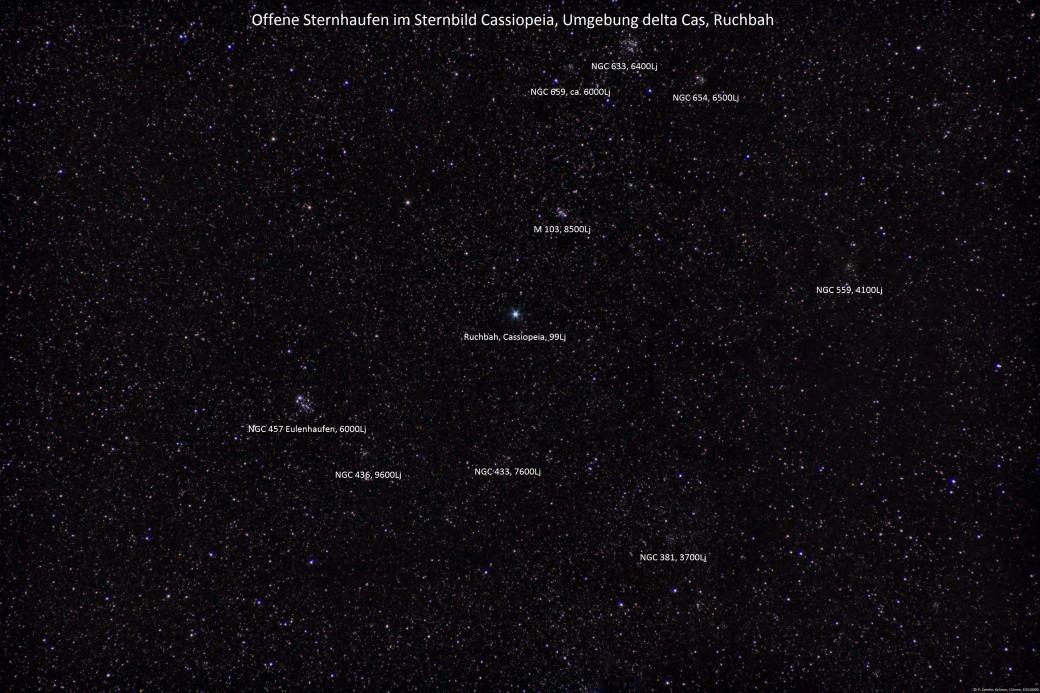 Cassiopeia, Sternhaufen4