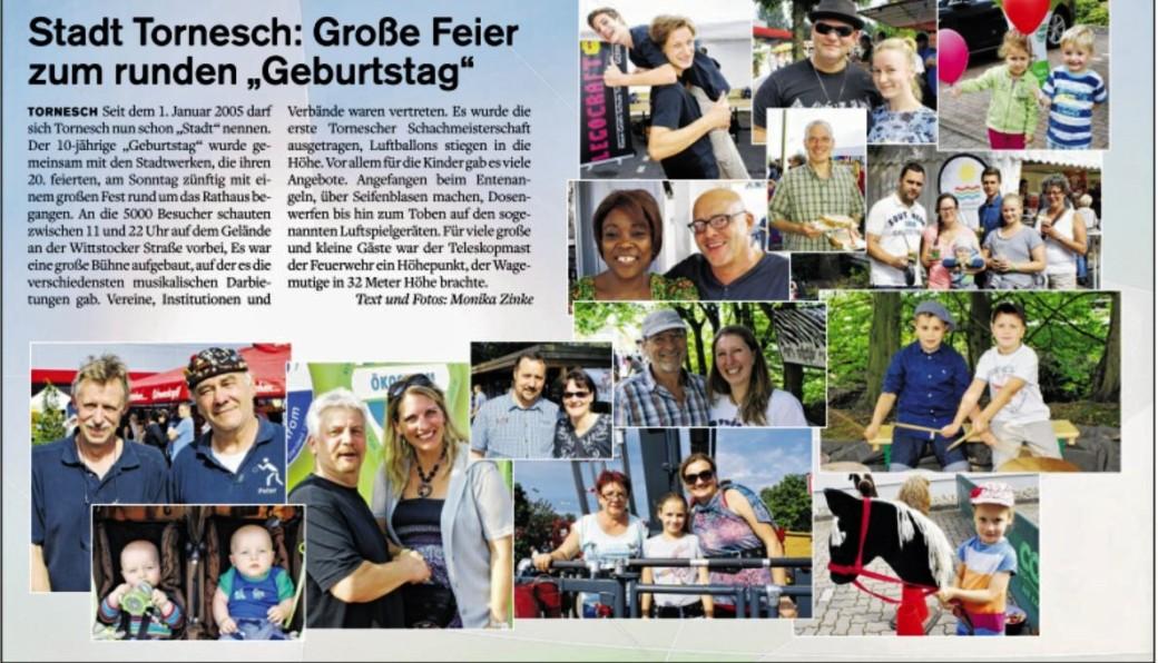 Stadtfest Bericht in Der Mittwoch- II